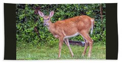 A Deer Young Lady Beach Towel
