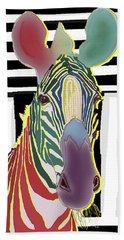A Different Zebra Beach Sheet