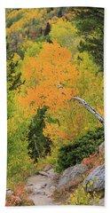Yellow Drop Beach Towel by David Chandler