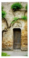 A Door In The Cloister Beach Sheet by Lainie Wrightson