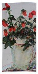 A Dozen Red Roses Beach Sheet by Avonelle Kelsey