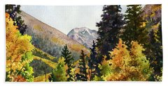 A Drive In The Mountains Beach Towel