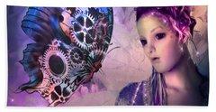 A Fairy Butterfly Kiss Beach Sheet