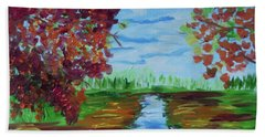 A Fall Day Beach Towel by Donna Brown