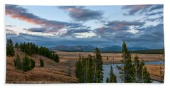 A Fall Evening In Hayden Valley Beach Towel