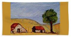 A Farm In California Winecountry Beach Towel