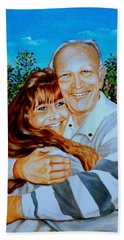 A Father And Daughter Beach Sheet by Ruanna Sion Shadd a'Dann'l Yoder