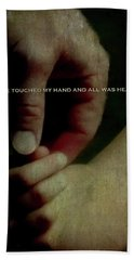 A Fathers Touch All Was Healed Beach Towel