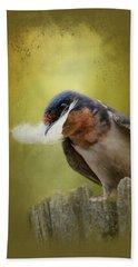 A Feather For Her Nest Beach Towel by Jai Johnson