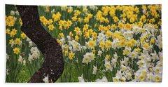 A Field Of Daffodils Beach Sheet