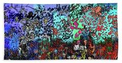 A Field Of Flowers Beach Sheet