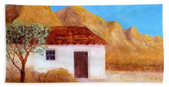 Beach Towel featuring the painting A Finca In Spain by Valerie Anne Kelly