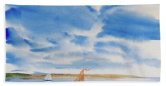 A Fine Sailing Breeze On The River Derwent Beach Towel