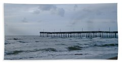 A Fishing Pier At Dawn Beach Sheet