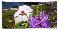 A Flower Blossoms Beach Towel by B Wayne Mullins