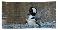 Beach Towel featuring the photograph A Flurry Of Feathers by Fraida Gutovich
