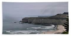A Foggy Day On Hwy 1 Beach Towel