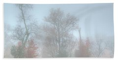 A Foggy Morning Beach Towel