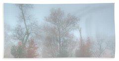 A Foggy Morning Beach Towel