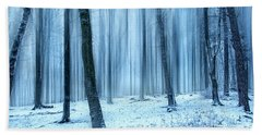 A Forest In Winter Beach Towel