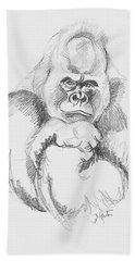 A Friendly Gorilla Beach Sheet by John Keaton
