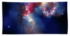 Beach Towel featuring the photograph A Galactic Spectacle by Marco Oliveira