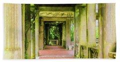 A Garden House Entryway. Beach Towel