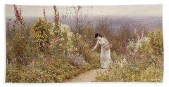 A Garden In October, Aldworth, 1891 Beach Towel