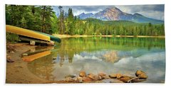 Beach Towel featuring the photograph A Gentle Light At Lake Annette by Tara Turner