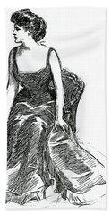 A Gibson Girl, C1902 Litho Beach Towel