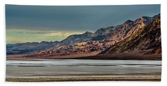 A Glow On The Amargosa Range Beach Towel