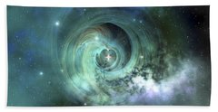 A Gorgeous Nebula In Outer Space Beach Towel