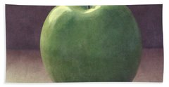 A Green Apple- Art By Linda Woods Beach Towel