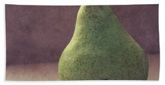 A Green Pear- Art By Linda Woods Beach Towel