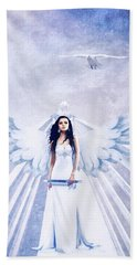 A Guardian Angel Will Attend Thee All Through The Night Beach Towel