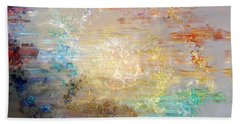 A Heart So Big - Custom Version 4 - Abstract Art Beach Sheet