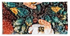 A Holiday Bouquet Beach Sheet by Jim Pavelle