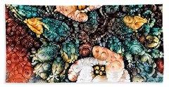 A Holiday Bouquet Beach Sheet