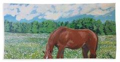 A Horse Named Dante Beach Towel