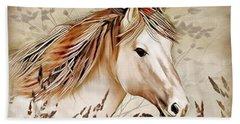 A Horse Of Course Beach Sheet by Nina Bradica