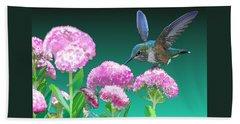 A Hummingbird Visits Beach Sheet