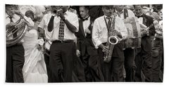 A Jazz Wedding In New Orleans Beach Towel