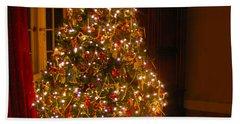 A Jewel Of A Christmas Tree Beach Sheet