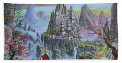 Beach Towel featuring the painting A Journey's End by Anthony Lyon