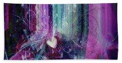 Beach Towel featuring the digital art A Kind Heart by Linda Sannuti