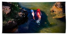 A Koi Romance Beach Towel
