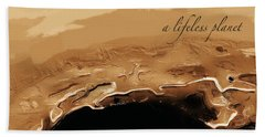 A Lifeless Planet Brown Beach Towel