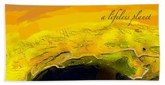 A Lifeless Planet Yellow Beach Towel