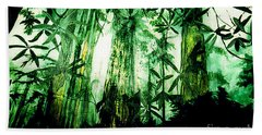 Beach Towel featuring the painting A Light In The Forest by Seth Weaver