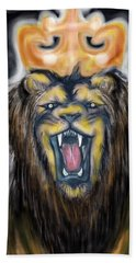 A Lion's Royalty Beach Towel